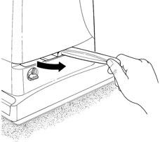 3. Vytiahnite odblokovaciu páku