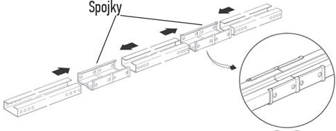 3. S použitím gumového kladivka a trochou sily spojte všetky dielce dohromady pomocou priložených spojok, až kým nezacvaknú: