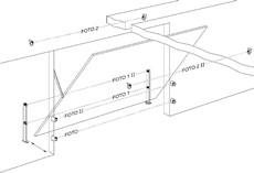 Zapojenie fotobunky výklopná garážová brána