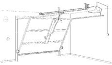 Výklopná nevyčnievajúca garážová brána