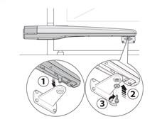 Montáž pohonu NICE Toona na prednú konzolu
