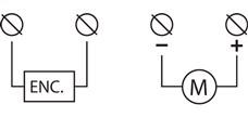 Schéma zapojenia napájania pohonu NICE Toona 4 TO4024