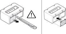 Ak chcete vymeniť sklíčka za oranžové, vylúpnite krytku a nasaďte sklíčko. Pozor, aby ste nepoškodili elektroniku.
