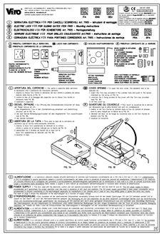 Manuál k elektrozámku VIRO V09 originál (vektor)