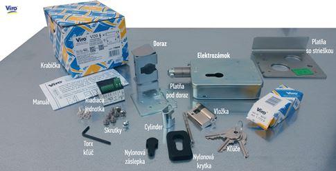 Obsah balenia elektrozámku VIRO V09