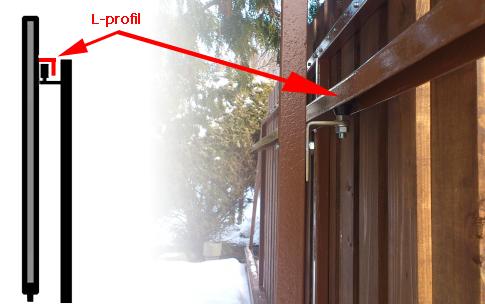 L-profil pre posuvnú bránu 50x50x3