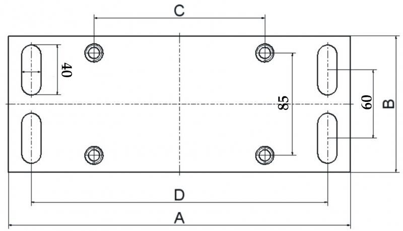 Rozmerr montážnej dosky vozíku V-15-5