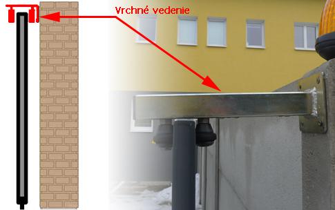 Príklad použitia vrchného vedenia VVR-3-G