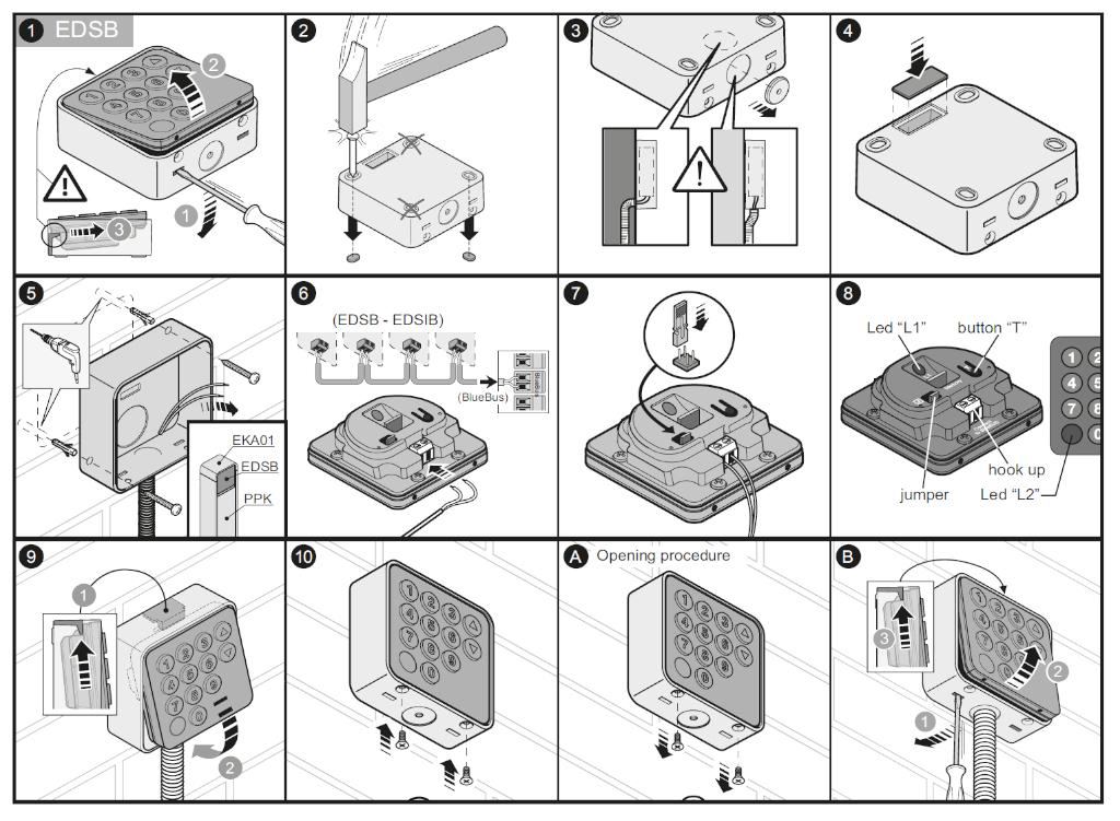 Montáž klávesnice EDSB