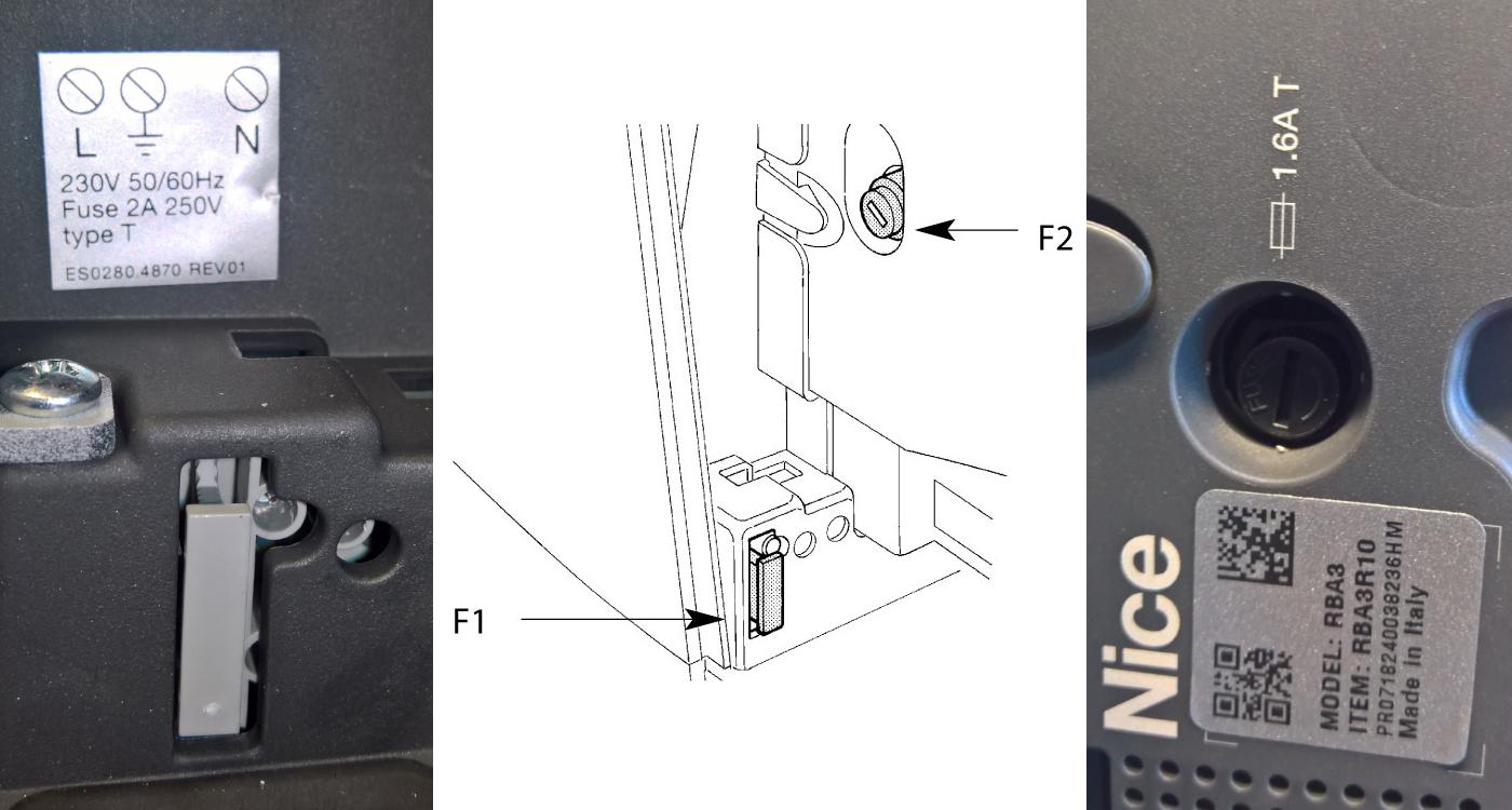 Poistky pohonu NICE Robus riadiacej jednotky RBA3