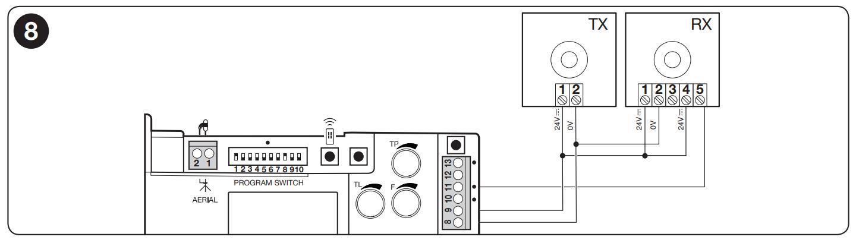 Zapojenie bez funkcie Fototest