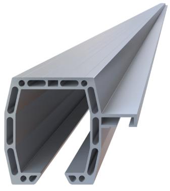Hliníkový C-profil pre posuvnú bránu