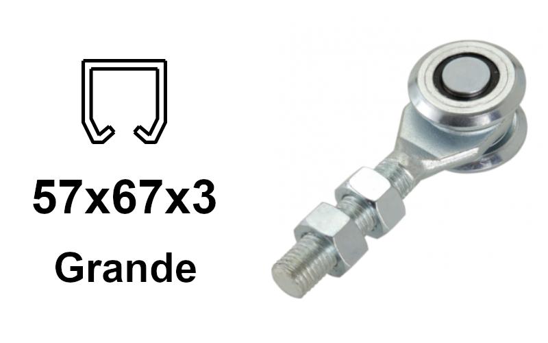 Vozík pre závesnú bránu 2 rolky pre profil 57×68×3,0