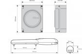 Sada pohonu NICE Wingo 2024 pre jednokrídlovú bránu do 2m/400kg s fotobunkami