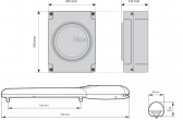 Sada pohonu NICE Wingo 3524 pre jednokrídlovú bránu do 3,5m/500kg s fotobunkami