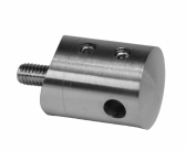 Bočný úchyt pre nerezové lanko Ø5mm, brúsená nerez K320, INOX AISI304