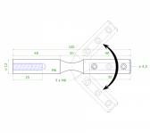 Nastaviteľný úchyt pre nerezové lanko Ø4,5mm, brúsená nerez K320, INOX AISI304