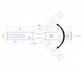 Nastaviteľný úchyt pre nerezové lanko Ø5,5mm, brúsená nerez K320, INOX AISI304