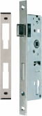 Zámok do bránky s hranatým niklovaným predkom pre zapustenie 40mm