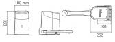 Sada pohonu NICE HOPPKIT pre dvojkrídlovú bránu - jedno krídlo 2,4m/250kg s príslušenstvom