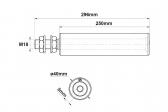 Sprevádzacia nylonová rolka valcová dlhá 40x250
