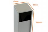 NICE PPH3 hliníkový stĺpik pre 1 fotobunku EPM/EPMB