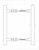 Nerezové madlo na dvere/sklo(8-12mm)