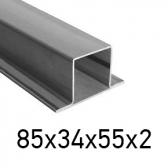 Joklový profil uzavretý T 85x34x55x2, čierny