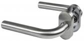 Kľučka rovná oblá z brúsenej nereze s oválnou rozetou