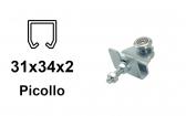 Vozík pre závesnú bránu 2 rolky s podstavou pre profil 34×31×2,0