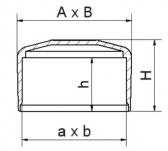 Záslepka horná obdĺžniková