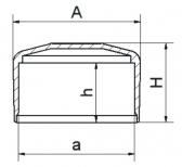 Záslepka horná štvorcová