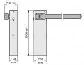 Závora WIDES4-KIT rameno 4m a príslušenstvo