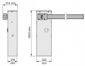 Závora WIDEM4-KIT rameno 4m a príslušenstvo