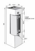 Elektrozámok pre jazýček zámku bránky bez lišty, s odblokovaním, ZE-02