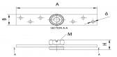 Príruba kotviaca s ložiskom pre vozíky so závitom M12