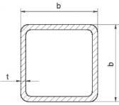 Žiarovo pozinkovaný joklový profil 100x100x3 mm