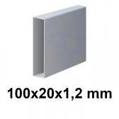Žiarovo pozinkovaný joklový profil 100x20x1,2 mm