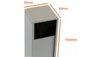 NICE PPH4 hliníkový stĺpik pre fotobunky EPM/EPMB