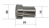 Náhradná priváracia matica so skrutkou, M8x25mm, na uchytenie hrebeňa