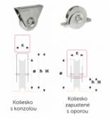 Sada pre výrobu koľajovej brány do šírky prejazdu 6,5 m - INOXOVÁ