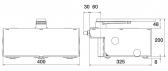 Sada podzemných pohonov NICE L-Fab BM4000 do krídla 650kg/4m