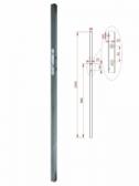 Profil 40x40x1,5mm so zámkom, dĺžka profilu 2m