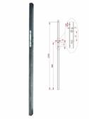 Profil 50x30x1,5mm so zámkom, dĺžka profilu 2m