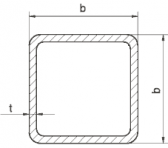 Žiarovo pozinkovaný joklový profil 80x80x2 mm