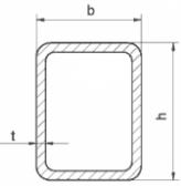Žiarovo pozinkovaný joklový profil 80x40x2 mm