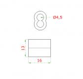 Hliníková lisovacia spojka pre nerezové lanko Ø4mm