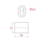 Hliníková lisovacia spojka pre nerezové lanko Ø5mm