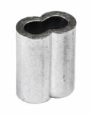 Hliníková lisovacia spojka pre nerezové lanko Ø6mm