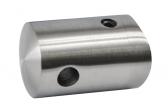 Bočný úchyt lanka ø5mm, bez zaistenia, na trubku ø42,4mm, nerezový